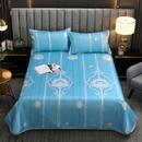 丽凡居家纺 新品 2021新款可水洗冰丝凉席三件套 舒适凉爽冰丝印花凉席三件套 1.2米床和1.35米床为两件套-卡罗拉