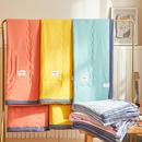 莱宁被业 新品 2021纯色日系水洗棉夏被 亲肤舒适水洗棉夏凉被 空调被 被子-古典灰