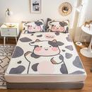 柔萱家纺 2021新款大版数码冰丝席三件套 凉爽透气提花三明治冰丝凉席空调席子(0.9/1.2米是两件套)-爱牛牛