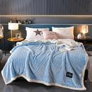 春妮家纺 新品剪花牛奶绒毛毯舒适柔软多用毯子 盖毯 被套毯 剪花被套多功能毛毯-湖蓝