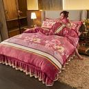 佳一家纺 新品 2021新款190克牛奶绒四件套 亲肤透气柔软舒适 套件(1.2米床为三件套)-花间梦